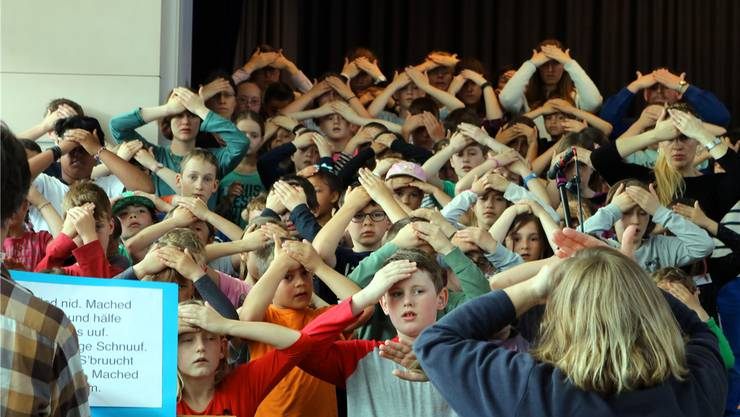 In Veltheim üben 114 Kinder für ein Musical.