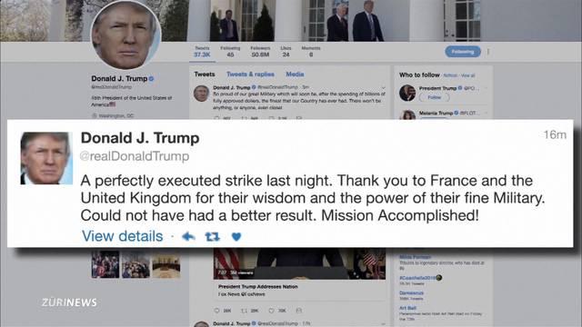 USA, Briten und Franzosen bombardieren Syrien