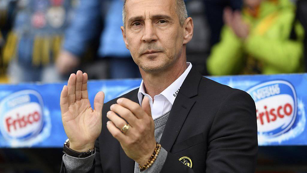 Adi Hütter verlässt die Berner Young Boys in Richtung Bundesliga.