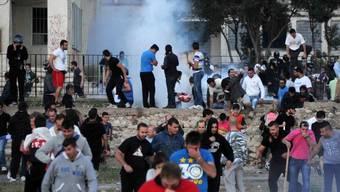Die Polizei setzte Tränengas ein