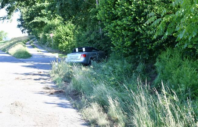 Die beiden Autoinsassen blieben unverletzt.