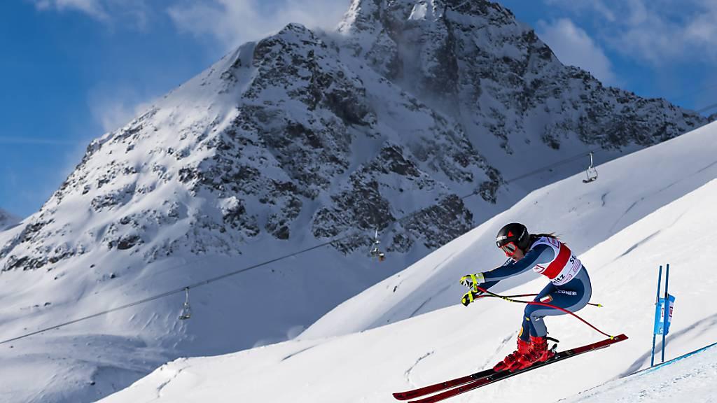In St. Moritz gibt es im Zielraum keine Zuschauer