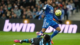 Alexandre Lacazette traf für Lyon zum 2:0-Schlussresultat (Archiv)