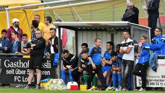 Betrübte und ratlose Gesichter auf der Spielerbank des FC Klus/Balsthal während des Derbys gegen Oensingen.