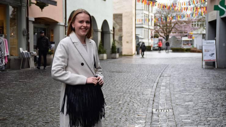 Bekam nicht nur positives Feedback auf ihr politisches Engagement: Jacqueline Wick, Co-Präsidentin der Jungen CVP Aargau.