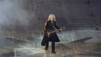 Brian May bei der Olympiade-Schlussfeier in London 2012 (Archiv)
