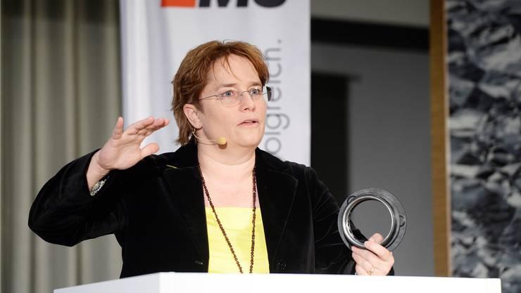 Wer am Frauenstreik mitmachen will, soll freinehmen, sagt Magdalena Martullo-Blocher.