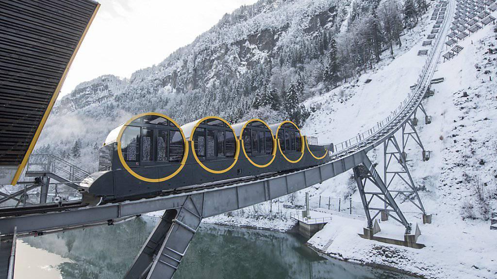 Hat den bundesrätlichen Segen: Die neue Stoosbahn ist eingeweiht.