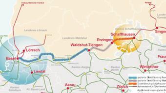 Die 74 Kilometer zwischen Basel und dem Grenzort Erzingen müssen noch elektrifiziert werden.