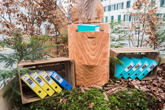 Die gesammelten Unterschriften für die Volksinitiative «JA! für euse Wald».