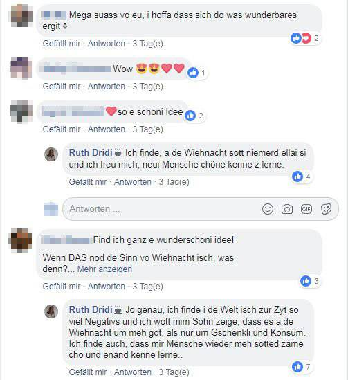 Die Kommentare sind durchwegs positiv. (Bild: Facebook/Du bisch vo Herisau, wenn)