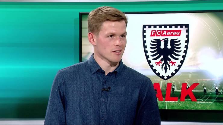 FCA-Verteidiger Marco Thaler schwingt den Kochlöffel und das Ergebnis sieht verlockend aus.