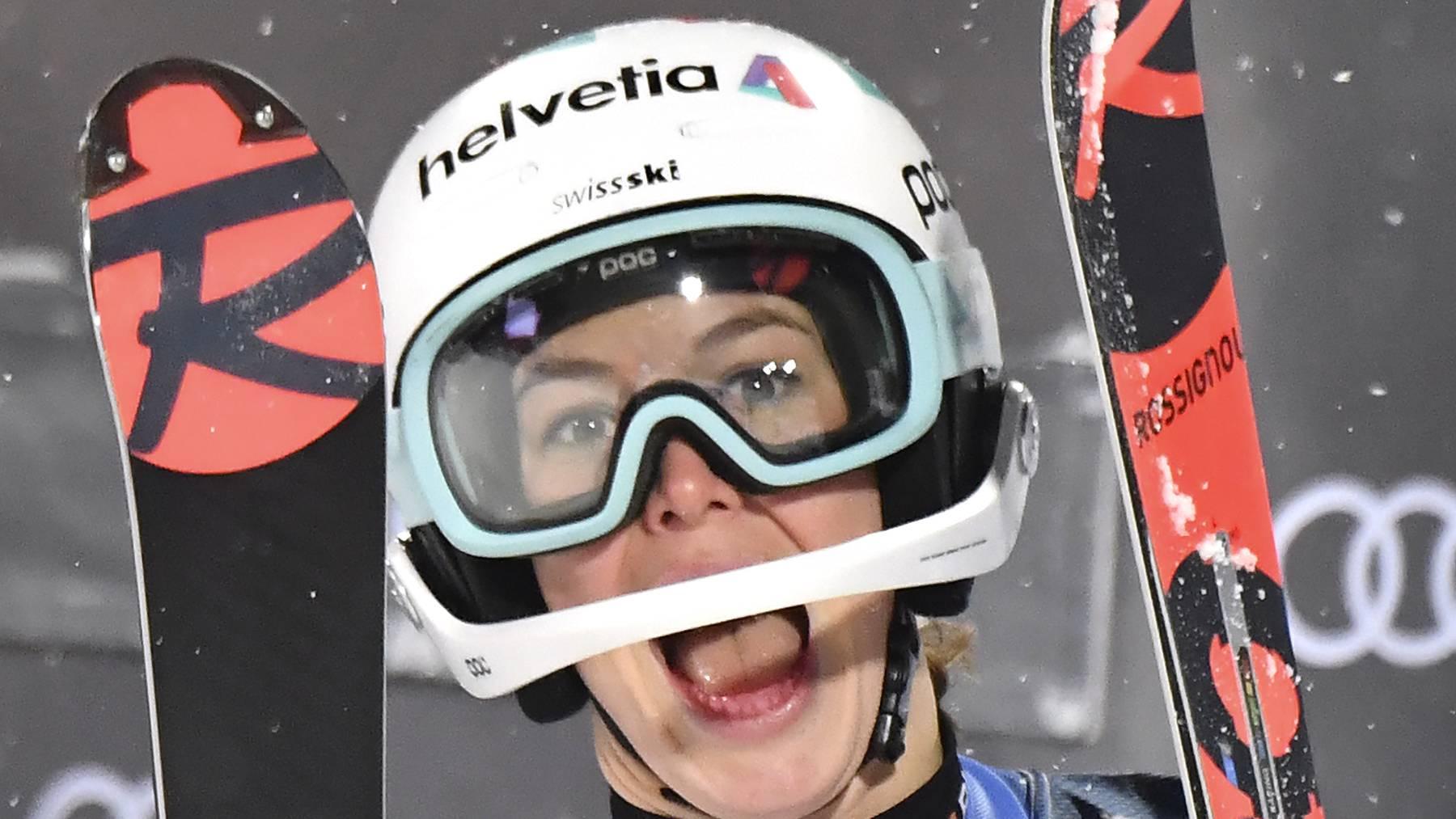 Michelle Gisin fährt in Slowenien zum ersten Mal auf ein Riesenslalom-Podest.