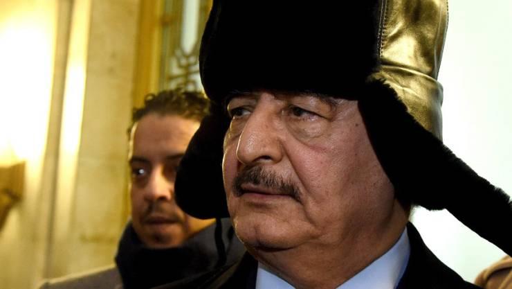 Will die libysche Hauptstadt Tripolis einnehmen: der mächtige General Chalifa Haftar. (Archivbild)