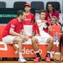 Das Schweizer Davis-Cup-Team um Captain Severin Lüthi trifft im März auf Peru