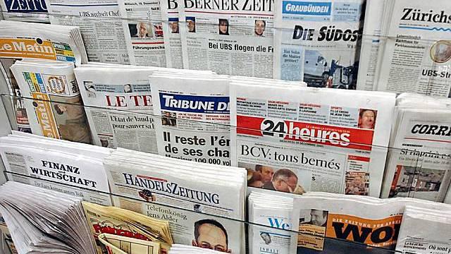 Auswahl von Schweizer Zeitungen