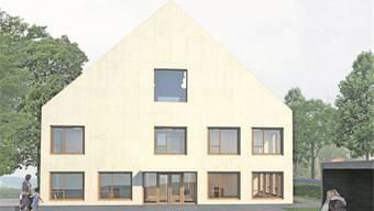 Visualisierung: das neue Gemeindehaus Fischbach-Göslikon.