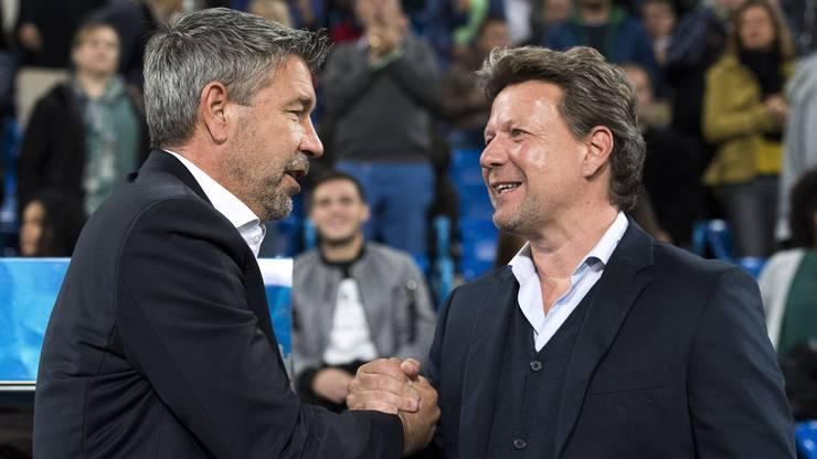 Händedruck der beiden Trainer
