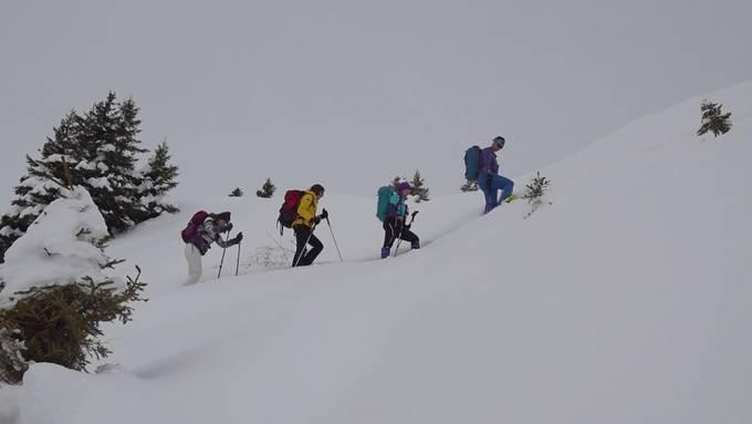 Outdoor-Boom: Schneeschuhe