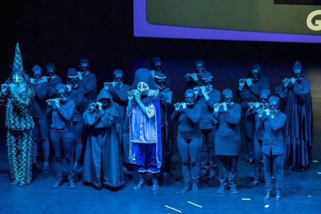 Premiere Drummeli 2019, Fototermin Hauptprobe: 13.15 Uhr, Musical Theater Basel. 1989, Rhygwäggi, E Bit's Basel, Computer erobern die Welt
