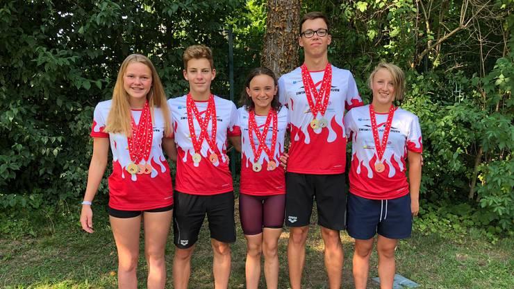 Die SM-Medaillengewinner der Swim Regio Solothurn.