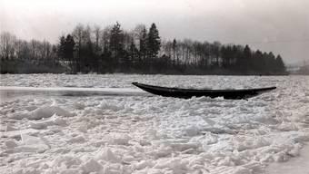 Das waren noch Winter: 1929 fror die Aare zu.