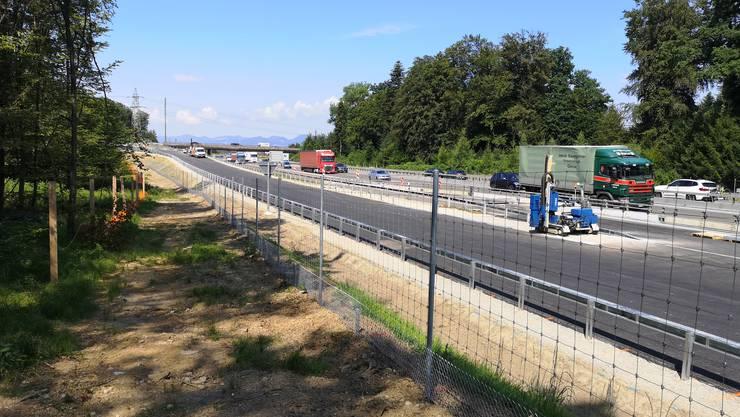 Die Rampe hinab auf die Autobahn wird Anfang August in Betrieb genommen. Der Rest des ausgebauten A1-Zubringers folgt dann Anfang 2021.