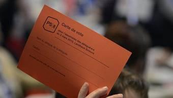 Stimmkarte an der SP-Delegiertenversammlung in Solothurn