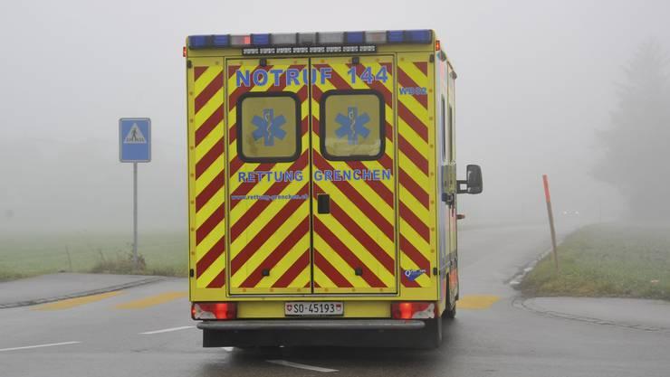 Das Ambulanzfahrzeug von Rettung Grenchen.