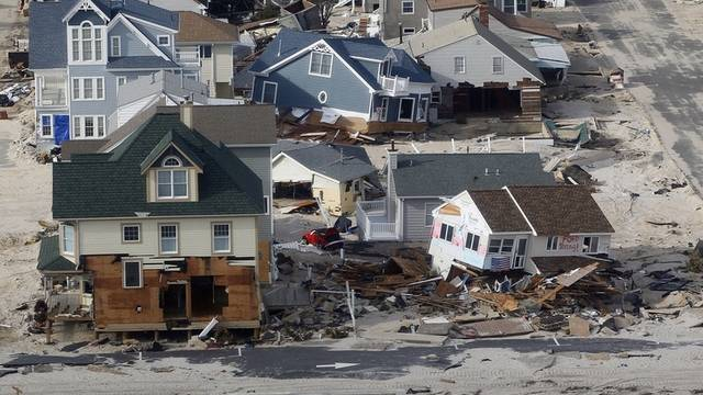 """Die Schäden, die Wirbelsturm """"Sandy"""" im US-Bundesstaat New York hinterliess, sind enorm (Archiv)"""