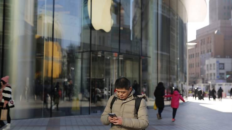 Vor allem in China lief das Geschäft für Apple im letzten Quartal schlechter als erwartet. (Symbolbild)