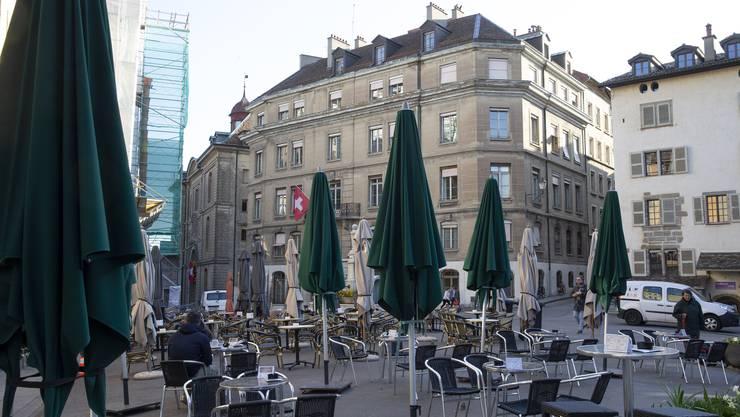 Wie leergefegt: Genf am Montagmorgen.