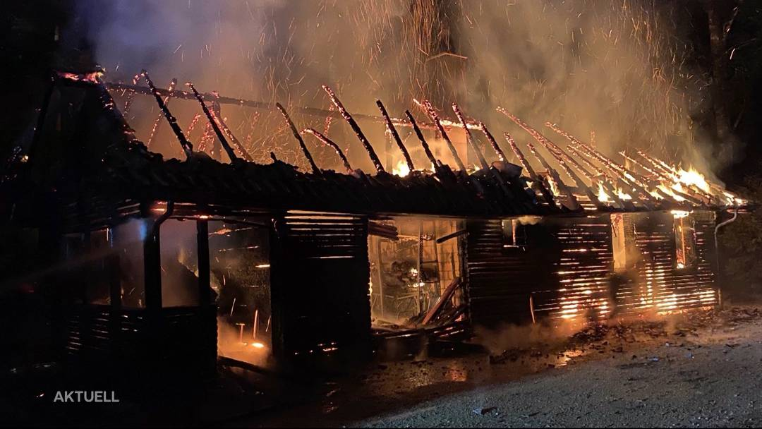 Nach Flammen-Inferno in Rothrist: Polizei verhaftet mutmasslichen Brandstifter