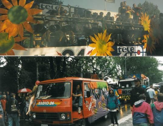 Die Streetparade wurde schon 1998 von Radio 24 begleitet