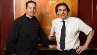 Das neue, und doch bereits eingespielte «Isebähnli»-Duo: Koch Jean-Michel Vionnet (l.) und Chef de Service Pius Bieri. alex spichale