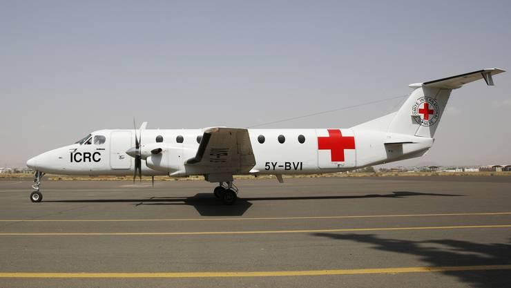 Ein Flugzeug des Roten Kreuz im Jemen.