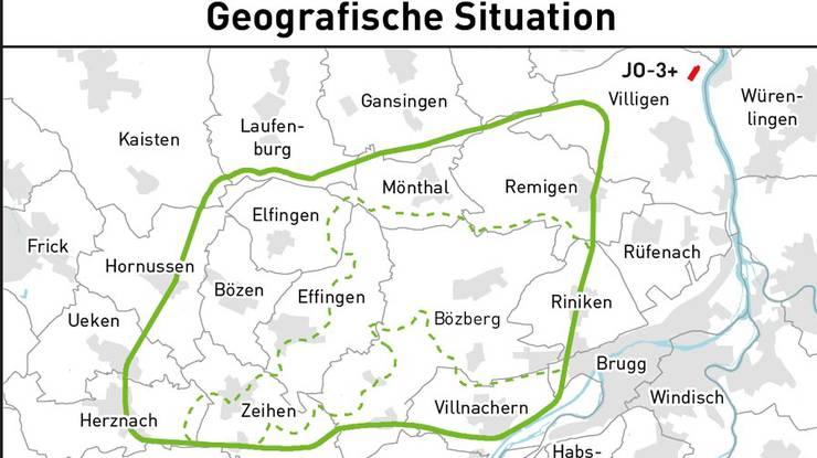 Das Gebiet Bözberg