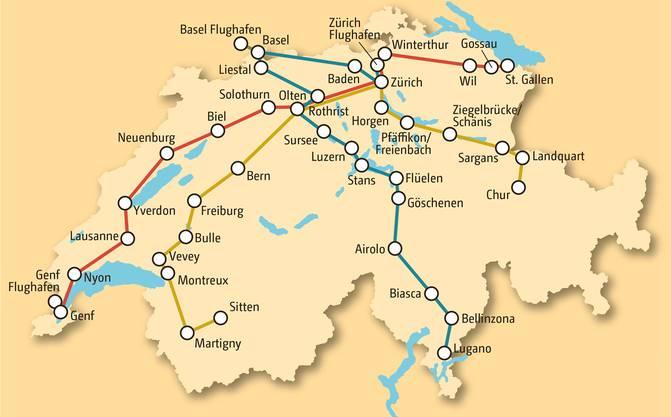 Bekommen die Domo-Reisen die Bewilligung des Bundesamts für Verkehr, so rollen ab Dezember täglich drei Fernbusse quer durch die Schweiz.