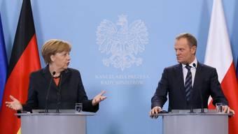 Polens Premier Donald Tusk und Bundeskanzlerin Angela Merkel