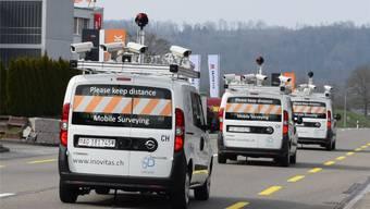 Europaweit unterwegs: Messfahrzeuge der iNovitas in Baden-Dättwil. zVg