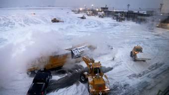 """Wegen des Schneesturms """"Toby"""" wurden in New York bis Mittwochabend bis zu 45 Zentimeter Schnee erwartet. (Archivbild)"""