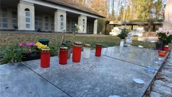 Das anonyme Gemeinschaftsgrab im Friedhof Meisenhard.