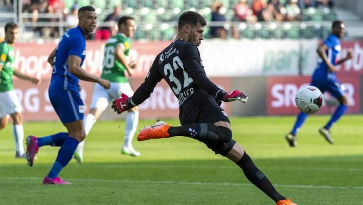 Der neue Goalie: Marius Müller.