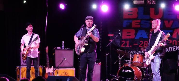 Die Copenhagen Slim Band bei ihrem Tribute-Konzert für Robert Johnson zum Auftakt des Blues Festivals Baden.