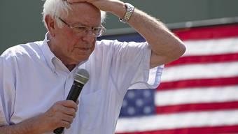 Zum ersten Mal vom Alter eingeholt: Bernie Sanders, Trump-Rivale und immer erngiegeladen.
