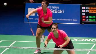 Die Badminton-Schwestern Susanne und Yvonne Keller an den Swiss Open in Basel