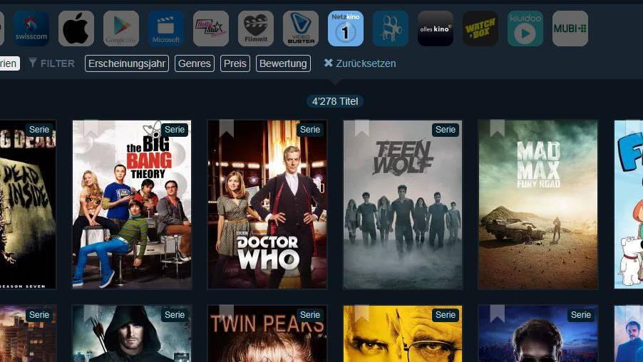 Vernetzt: Streaming-Suchmaschine für Filme und Serien