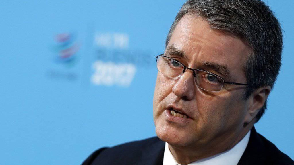 WTO-Generalsekretär Roberto Carvalho de Azevêdo anlässlich des Auftakts der 11. WTO-Ministerkonferenz in der argentinischen Hauptstadt Buenos Aires.
