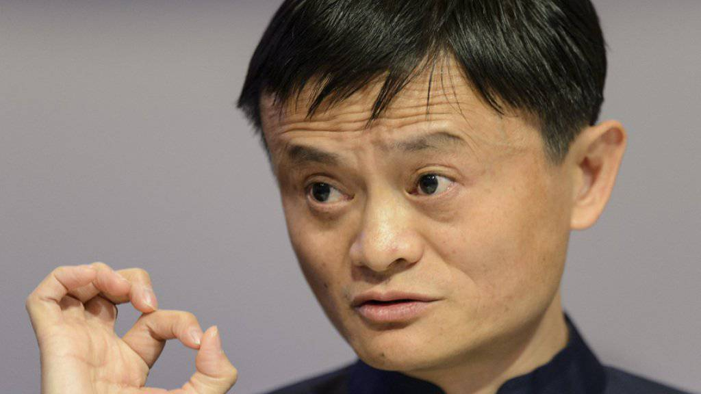 "Jack Ma, Executive Chairman, Alibaba Group, speaks during a panel session at the 45th Annual Meeting of the World Economic Forum, WEF, in Davos, Switzerland, Friday, January 23, 2015. The overarching theme of the Meeting, which takes place from 21 to 24 January, is ""The New Global Context"". (KEYSTONE/Jean-Christophe Bott)"