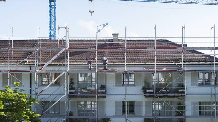 Sendet negative Signale und drückt damit auf das KOF-Konjunkturbarometer: Die Bauwirtschaft. (Symbolbild)